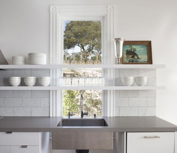 Trend Floating Shelves In The Kitchen La La Lovely